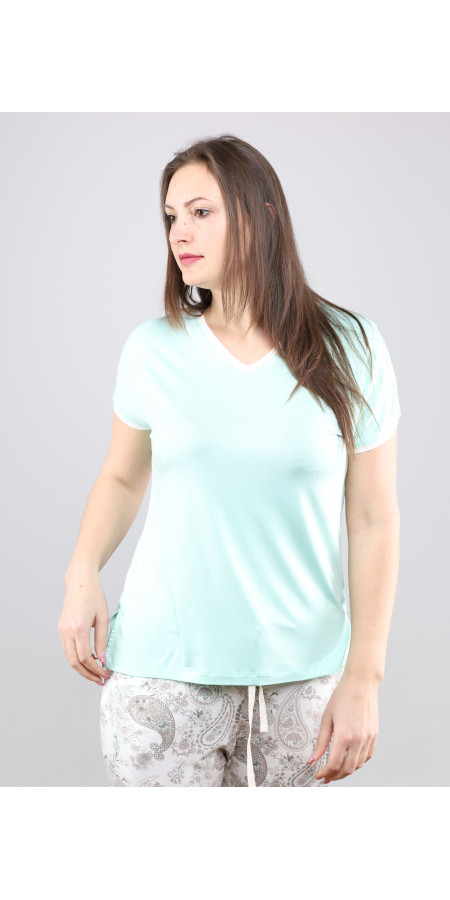 Bluza de viscoza in V